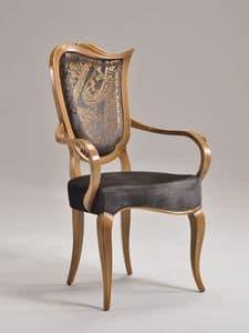 WAVE Stuhl mit Armlehnen 8624A, Polsterstuhl, mit Armlehnen, für Luxusrestaurant