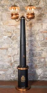Art. SL 146, Lamppost mit zentralen Stamm in Holz, klassischen Stil