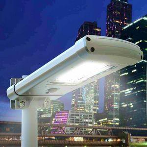 Laternenpfahl 24 LED Solar Twilight Street und Garden STREET, Außenleuchte mit Dämmerungssensor