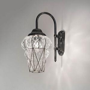 Piazza Eb114-035, Klassische Wandlampe für den Außenbereich, in Kristall