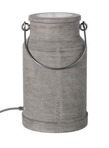 Via Lattea HP127 1G, Stehleuchte, geformt wie ein Milchkübel, in Beton