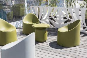 Bay, Sessel aus Polyethylen, mit abgerundeten Formen