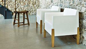 Kubrik, Design Sessel aus Holz und Kunststoff
