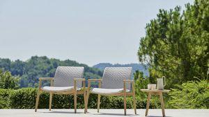 Lapis Liegestuhl, Außensessel mit breitem Sitz