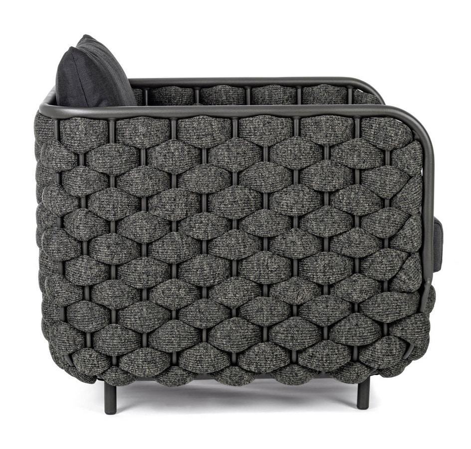 SALINAS PL, Gewebter Sessel für den Außenbereich