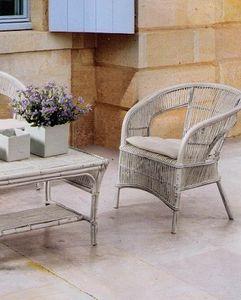 Sessel Tais, Ethnischer geflochtener Sessel für den Außenbereich