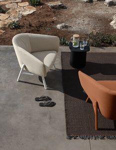 Tuile armchair, Komfortabler Gartensessel aus schmutzabweisendem und wasserabweisendem Material