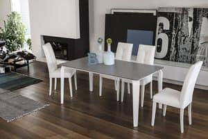 MAGELLANO TA401, Ausziehtisch Glas für Esszimmer moderne