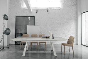 PONENTE 160 TA1A8, Moderner ausziehbarer Tisch