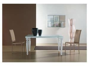 s56 cesare s58 cesarone, Ausziehbaren Tisch mit Glasplatte