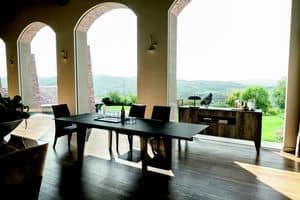 STRATOS TA504, Ausziehbarer Tisch mit Beinen aus Laminat und Top in GRES
