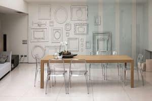 URANO 160 TA501, Rechteckiger Tisch ideal für moderne Küche