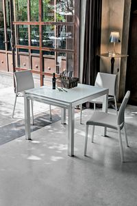 VEGA 90 TA100, Erweiterbarer quadratischer Tisch