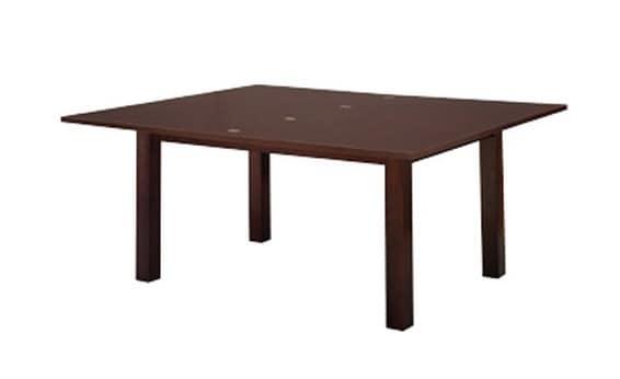 830, Buche Tisch mit Verlängerung, quadratischen Beinen, für Küche