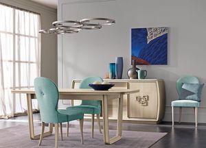 Amarcord Art. AM009/G, Ausziehbarer Esstisch aus Holz