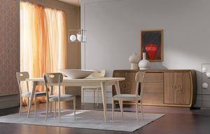 Amarcord Art. AM009, Holztisch mit ausziehbarer Platte