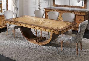 ART. 2934, Ausziehbarer Tisch im Déco-Stil
