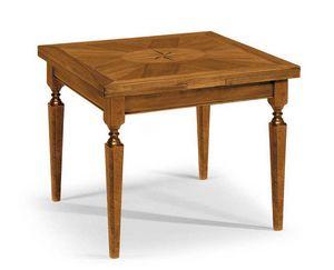 Art. 60, Holztisch mit eingelegter quadratischer Platte