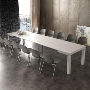 Art. 634 Aladin, Ausziehbarer Tisch mit verschiedenen Erweiterungen, aus Holz