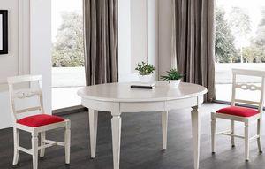 Art. 93, Ovaler Tisch aus weiß lackiertem Holz