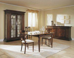 Caravaggio Tisch, Klassischer Tisch mit Schnapperweiterungen