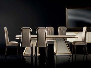DIAMANTE ausziehbarer Tisch, Luxuriöser Esstisch mit Erweiterungen
