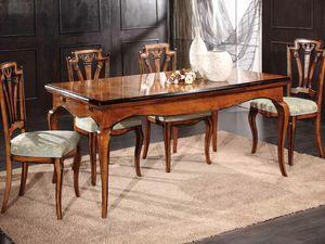 Gabriel Tisch, Ausziehbarer Tisch aus Holz von Hand dekoriert