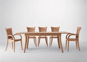 Harmony ausziehbaren Tisch, Erweiterbar Holztisch, für Outdoor-Umgebungen