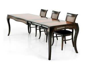 MILUNA table extensible 8338T, Ausziehbarer Tisch aus Massivholz