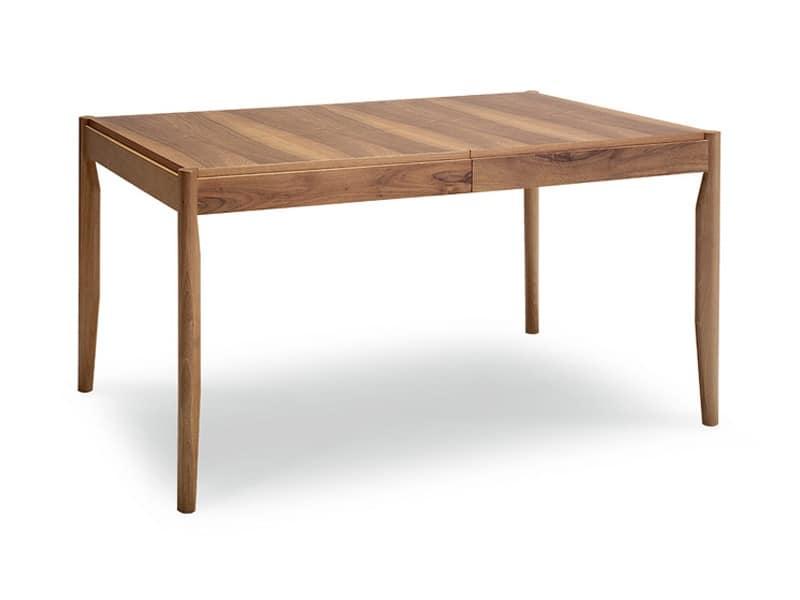 ausziehbarer tisch aus nussbaumholz idfdesign. Black Bedroom Furniture Sets. Home Design Ideas