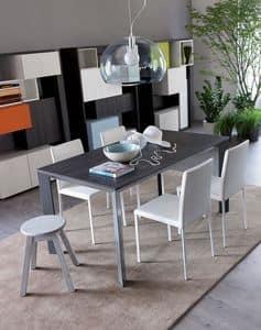 Secret, Ausziehbare Aluminium Tisch ideal für Wohn-