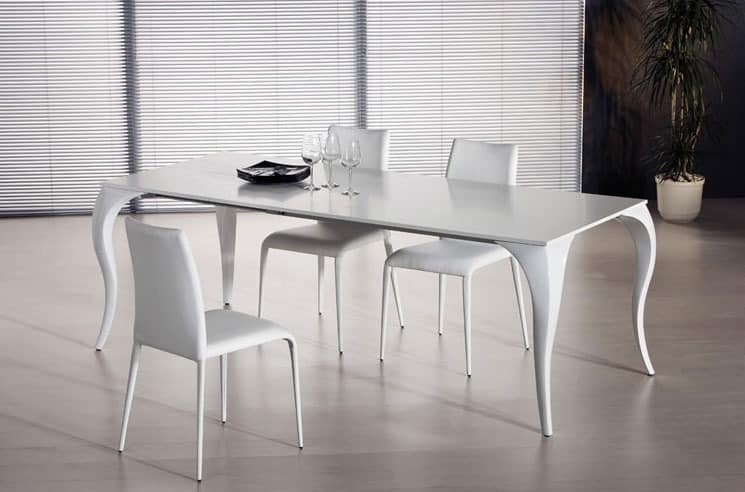 Ausziehbarer esstisch verschiedene versionen idfdesign for Tavoli da soggiorno moderni allungabili