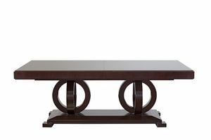 Tosca Tiche, Ausziehbarer Holztisch mit furnierter Spitze