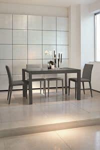 URANO 130 TA502, Ausziehbarer Tisch aus Aluminium für Küchen