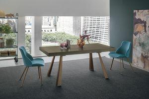 GRECALE TA1C1, Ausziehbarer Tisch mit Metallfüßen