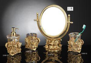 SET BATHROOM FOGLIE, Luxuriöses Badezimmerzubehör im Barockstil