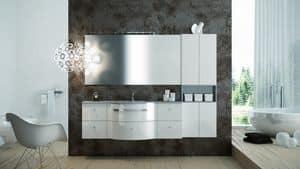 Round AM 119, Möbel schimmernde Oberfläche, ideal für moderne Bäder