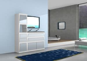 Badmöbel B1, Modular Bad Eitelkeit mit Schubladen und Türen, in Laminat