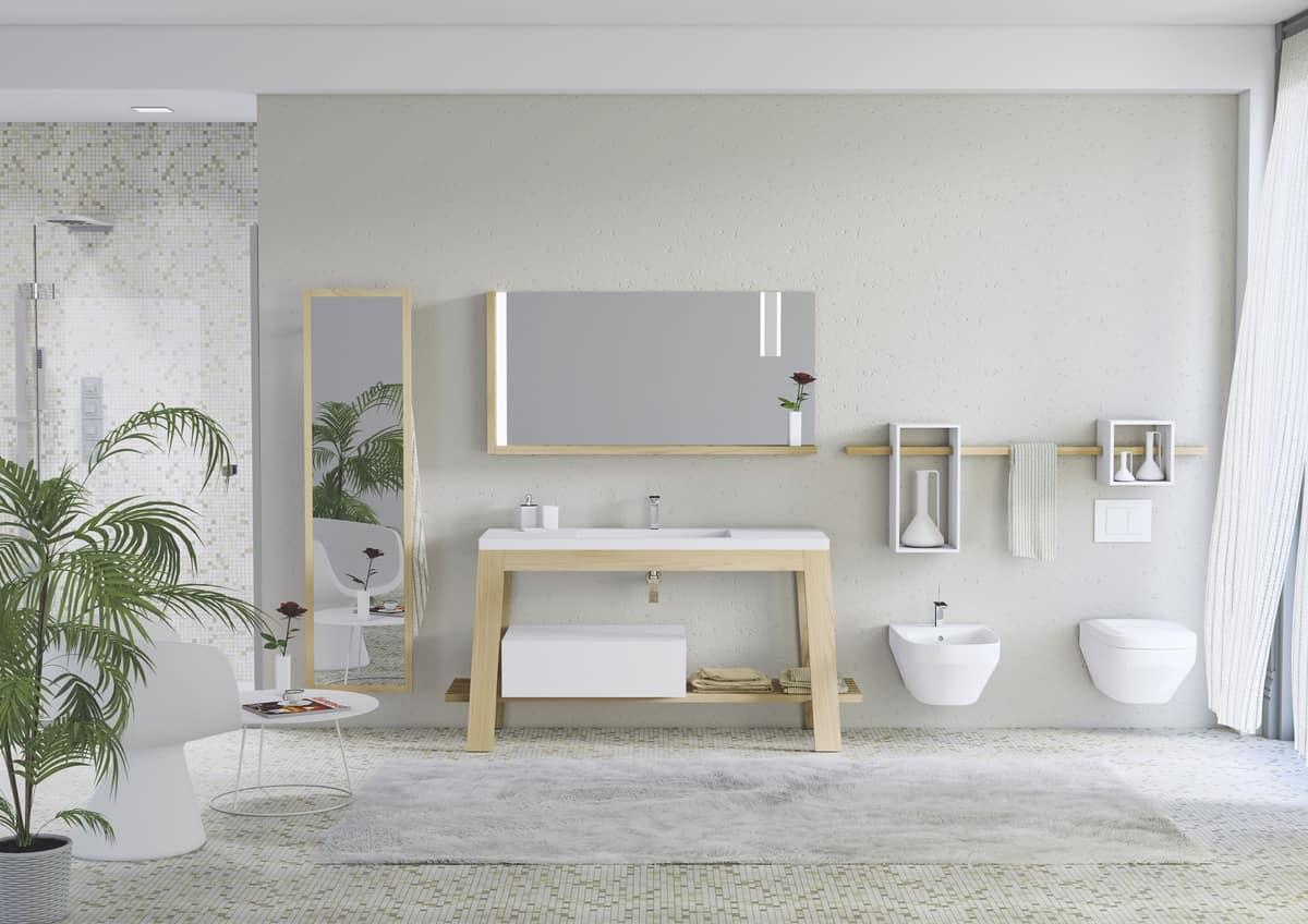 schrank in asche f r badezimmer mit spiegel f r badem ntel idfdesign. Black Bedroom Furniture Sets. Home Design Ideas