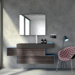 Change comp. 26, Bad Schrank mit integriertem Waschbecken in der Spitze, für Restaurants