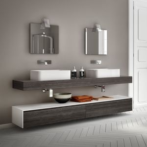 Change comp. 27, Badmöbel mit Doppelwaschbecken, für Pizzerien