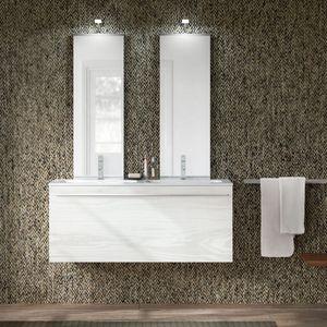 Change comp. 47, Badezimmermöbel mit Doppelwaschbecken und Doppelspiegel
