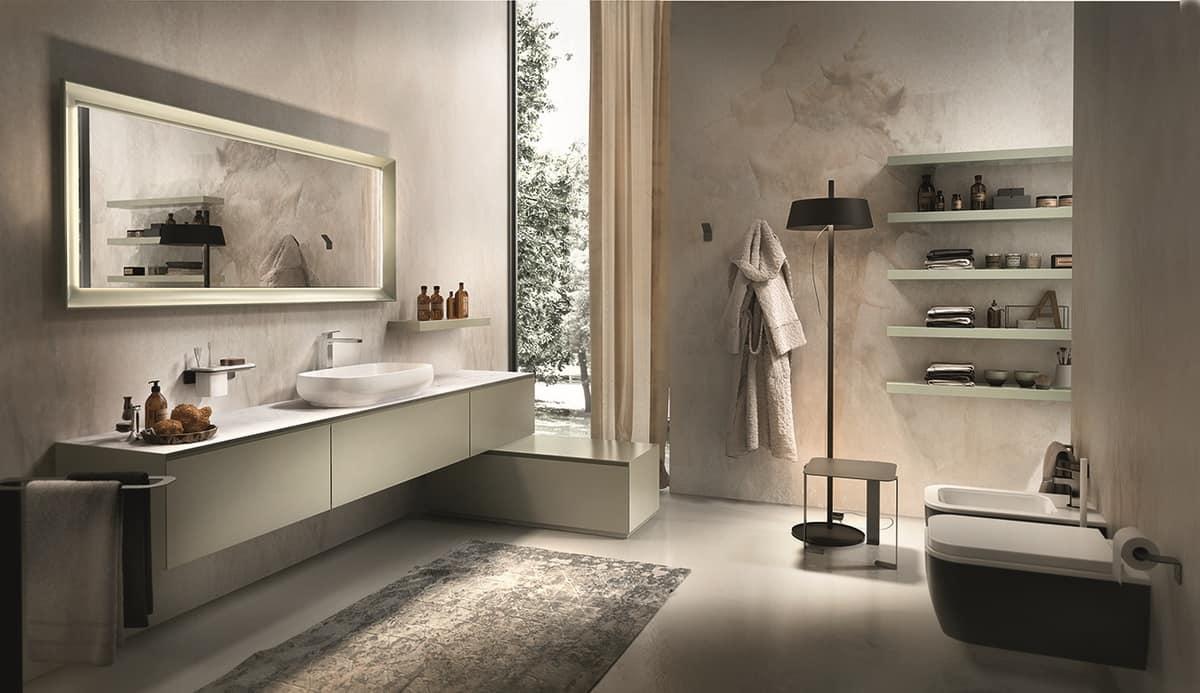 Badmöbel mit Top aus weißem Marmor von Carrara | IDFdesign