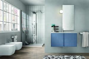 Cloe 24, Badezimmermöbel aus Holz mit einfachen Spiegel