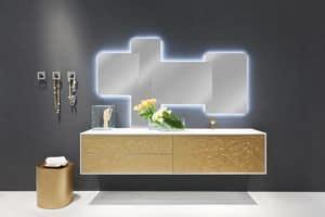 Cocò Flower 01, Luxus-Möbel für Badezimmer, von Hand verziert