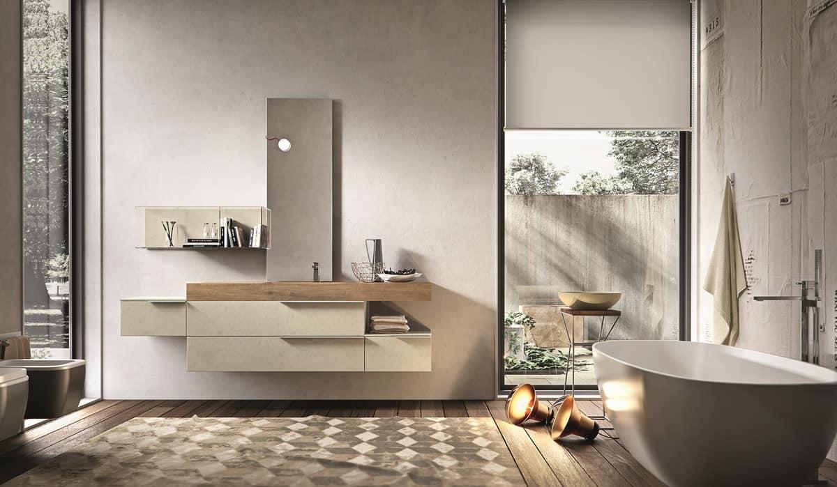 m bel zusammensetzung f r bad zement perle melamin idfdesign. Black Bedroom Furniture Sets. Home Design Ideas