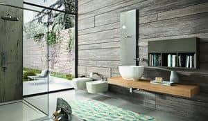 Giunone 377, Badezimmer consolle der Eiche mit Wandschrank und Spiegel aus