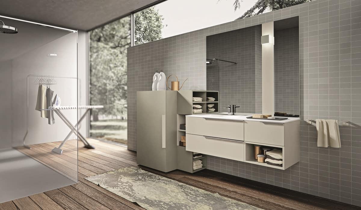 badezimmerm bel zusammensetzung mit einem schrank f r die. Black Bedroom Furniture Sets. Home Design Ideas