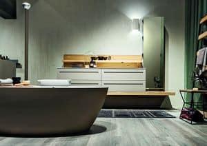 Ker 318, Badezimmermöbel aus fragen mit Badewanne