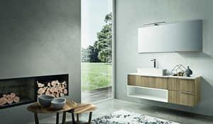 Kyros 108, Badezimmermöbel aus Eiche und weiß lackiert Ausführungen gemacht